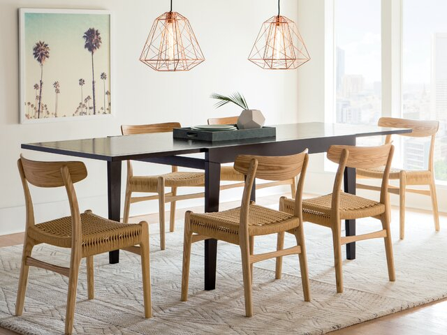 Modern & Contemporary Dining Room Sets | Allmodern For Evellen 5 Piece Solid Wood Dining Sets (Set Of 5) (View 13 of 25)