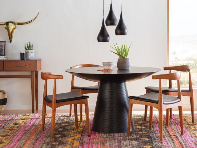 Modern & Contemporary Dining Room Sets | Allmodern Pertaining To Evellen 5 Piece Solid Wood Dining Sets (Set Of 5) (View 8 of 25)