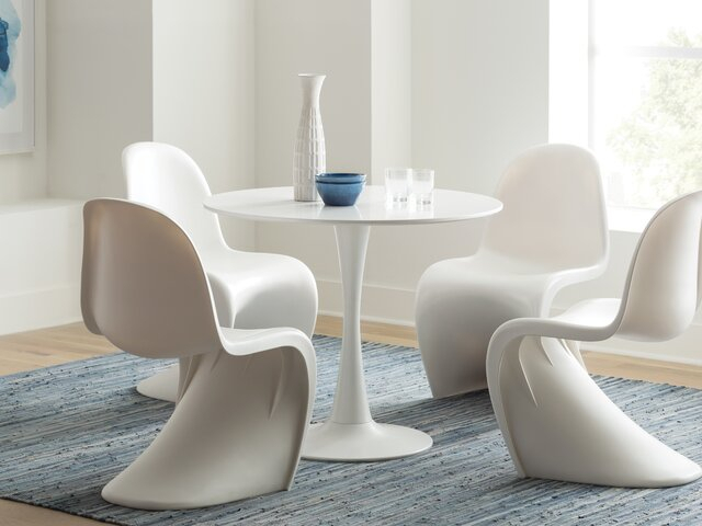 Modern & Contemporary Dining Room Sets | Allmodern Pertaining To Liles 5 Piece Breakfast Nook Dining Sets (Image 20 of 25)