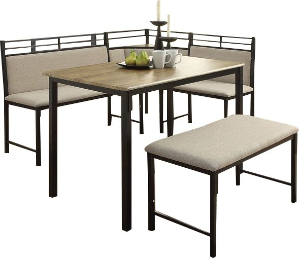 Modern & Contemporary Kitchen Corner Booth Sets | Allmodern In Bedfo 3 Piece Dining Sets (View 12 of 25)