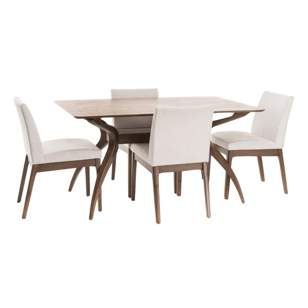 Modern & Contemporary Tunis 5 Piece Dining Set | Allmodern In Travon 5 Piece Dining Sets (Image 12 of 25)