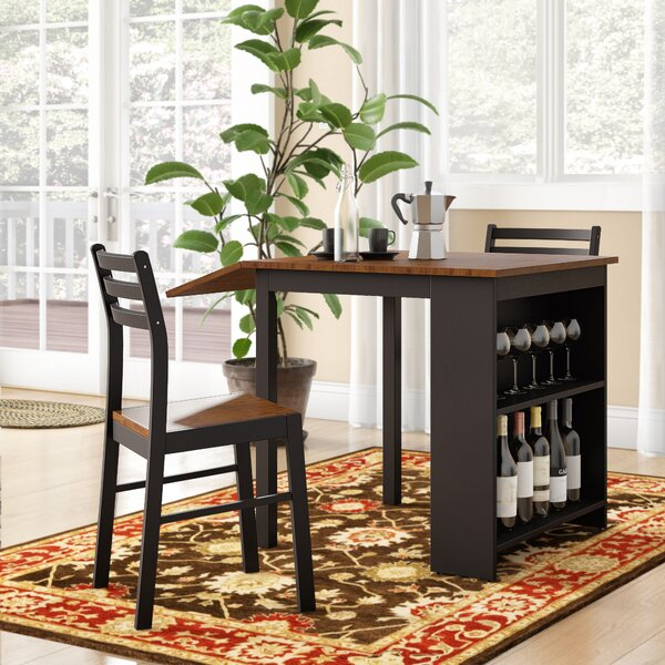 Modern Melanie 5 Piece Extendable Solid Wood Dining Setalcott inside Hood Canal 3 Piece Dining Sets