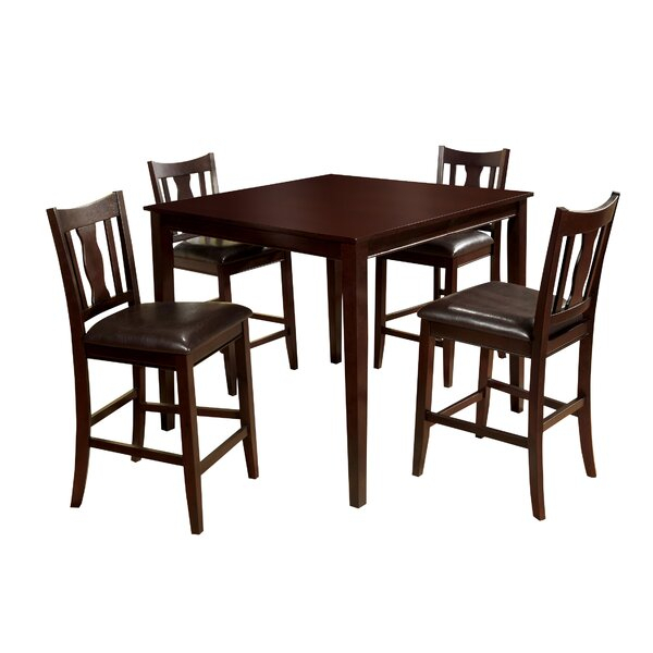 Modern Petite 5 Piece Counter Height Dining Sethokku Designs With Regard To Miskell 3 Piece Dining Sets (View 22 of 25)