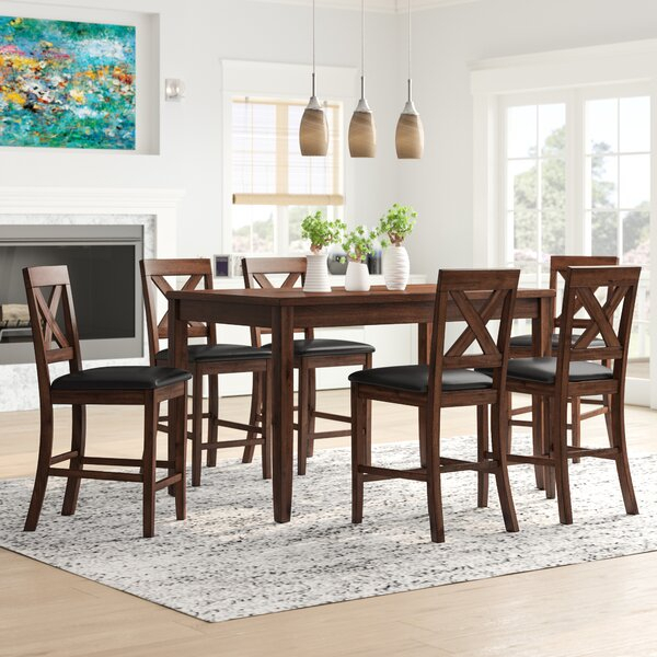 Modern Shelby 9 Piece Dining Setcanora Grey Today Sale Only For Laconia 7 Pieces Solid Wood Dining Sets (Set Of 7) (Image 21 of 25)
