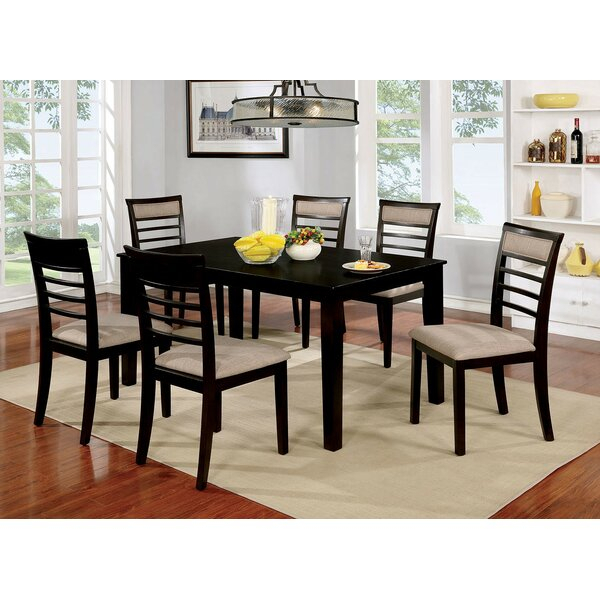 Modern Shelby 9 Piece Dining Setcanora Grey Today Sale Only With Regard To Laconia 7 Pieces Solid Wood Dining Sets (Set Of 7) (Image 22 of 25)