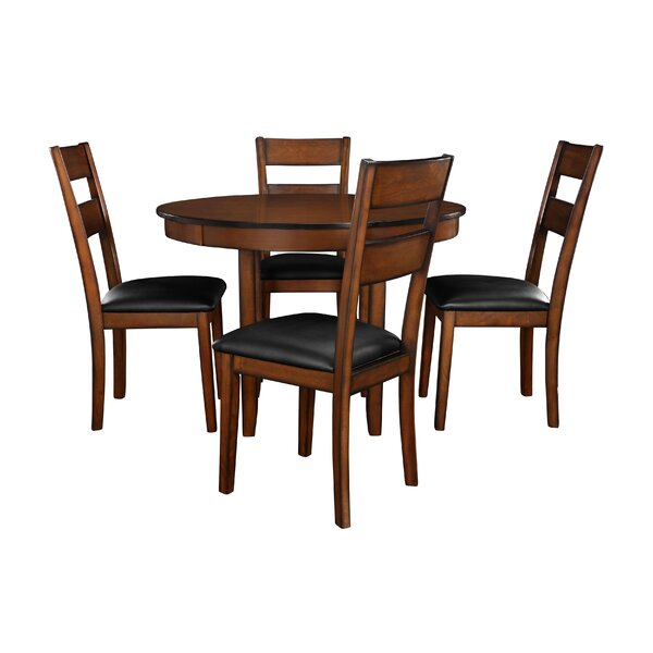 Modern Sundberg 5 Piece Solid Wood Dining Setwinston Porter Sale Pertaining To Sundberg 5 Piece Solid Wood Dining Sets (Image 17 of 25)