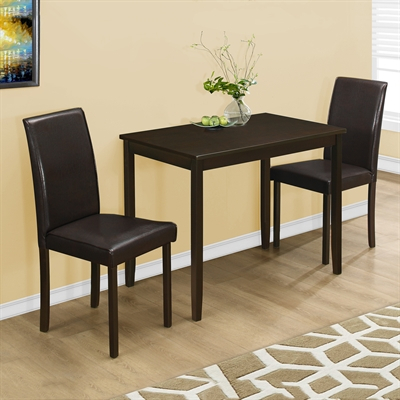 Monarch Specialties 3 Piece Dining Set Pertaining To 3 Piece Dining Sets (View 12 of 25)