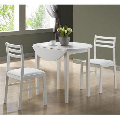 Monarch Specialties 3 Piece Dining Table Set In 3 Piece Dining Sets (View 24 of 25)