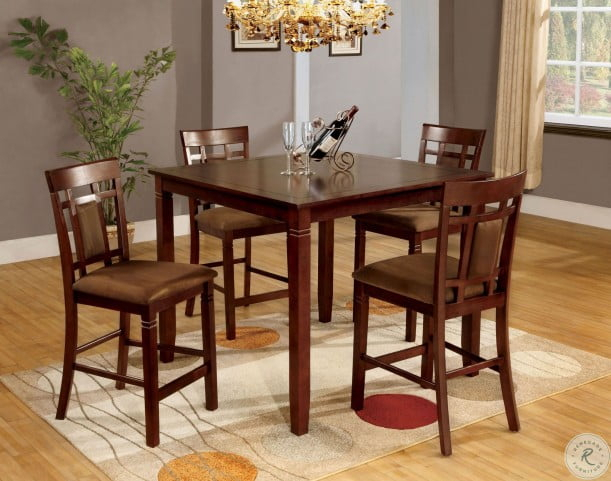 Montclair Ii 5 Piece Counter Height Table Set From Furniture Of Throughout Penelope 3 Piece Counter Height Wood Dining Sets (Image 14 of 25)