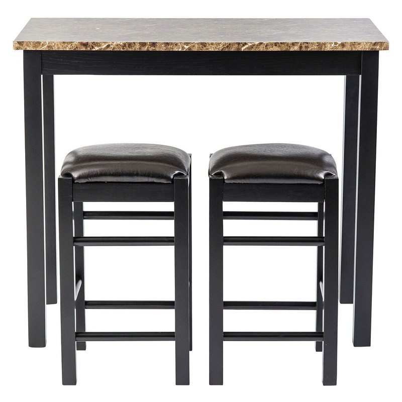 Moorehead 3 Piece Counter Height Dining Set Intended For Tappahannock 3 Piece Counter Height Dining Sets (Image 9 of 25)