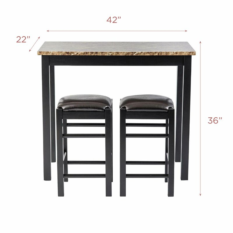 Moorehead 3 Piece Counter Height Dining Set Pertaining To Moorehead 3 Piece Counter Height Dining Sets (Image 16 of 25)