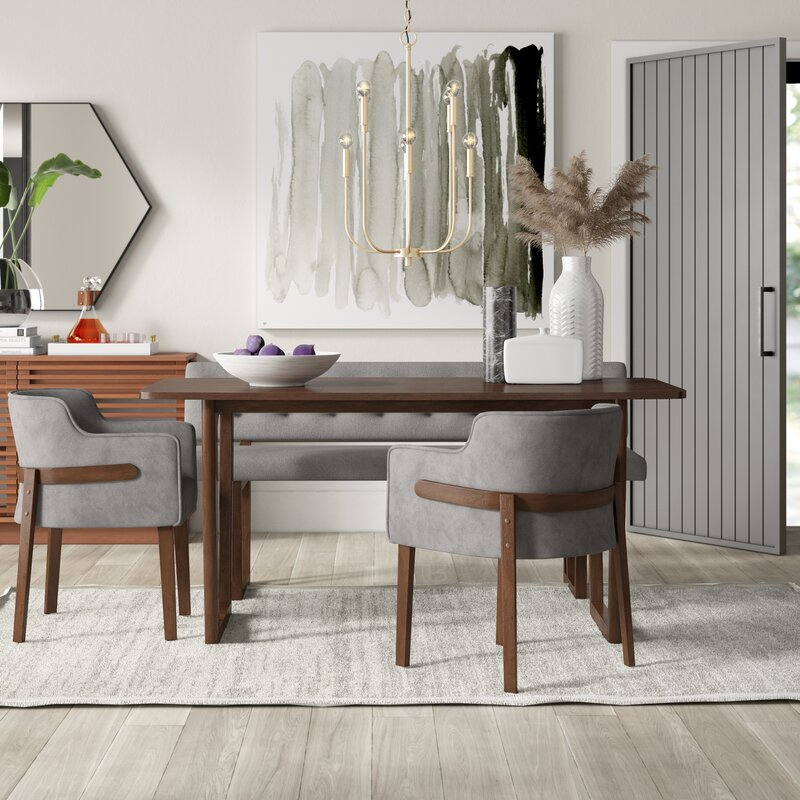 Mukai 4 Piece Dining Set Intended For Mukai 5 Piece Dining Sets (View 8 of 25)