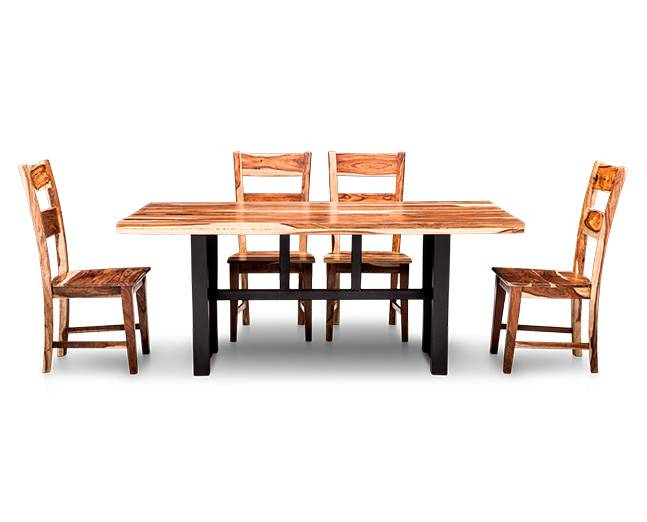Nepali 5 Pc. Counter Height Dining Room Set - Furniture Row with regard to Askern 3 Piece Counter Height Dining Sets (Set Of 3)