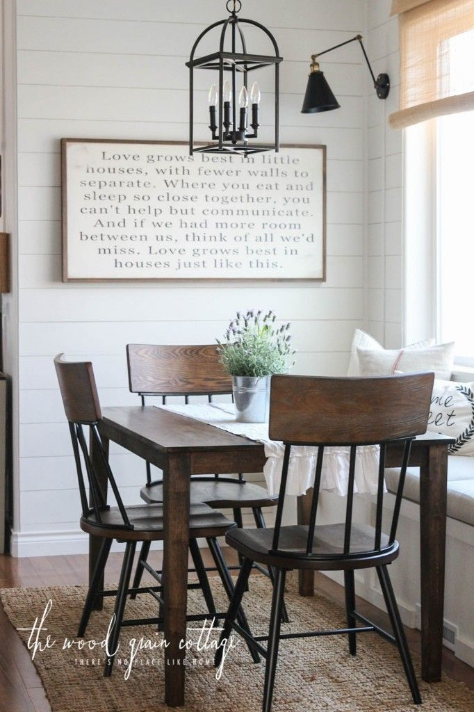New Breakfast Nook Chairs | Dining Room Decor Ideas | Farmhouse For Lightle 5 Piece Breakfast Nook Dining Sets (View 14 of 25)