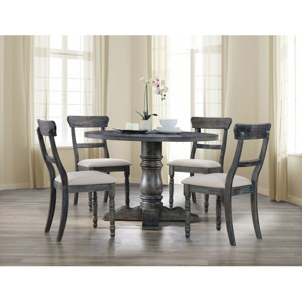 New Design Dendy 5 Pieces Dining Setgracie Oaks No Copoun Regarding Weatherholt Dining Tables (Image 9 of 25)