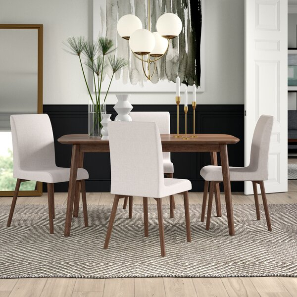 New Design Liles 5 Piece Dining Setmercury Row 2019 Online in Presson 3 Piece Counter Height Dining Sets