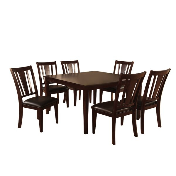 New Design Rushford 7 Piece Dining Setdarby Home Co No Copoun In Hanska Wooden 5 Piece Counter Height Dining Table Sets (Set Of 5) (Image 15 of 25)