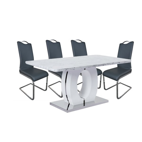 New Figueroa 5 Piece Dining Setorren Ellis Coupon | Kitchen Within Kaelin 5 Piece Dining Sets (View 6 of 25)