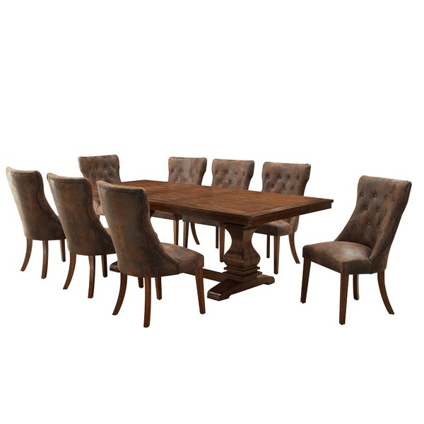 New Spruill 5 Piece Dining Setaugust Grove Comparison | Kitchen With Regard To Sundberg 5 Piece Solid Wood Dining Sets (Image 19 of 25)