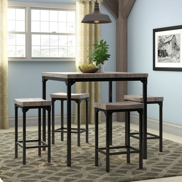 New Wegner 5 Piece Counter Height Dining Setgracie Oaks Today Within Presson 3 Piece Counter Height Dining Sets (Image 19 of 25)