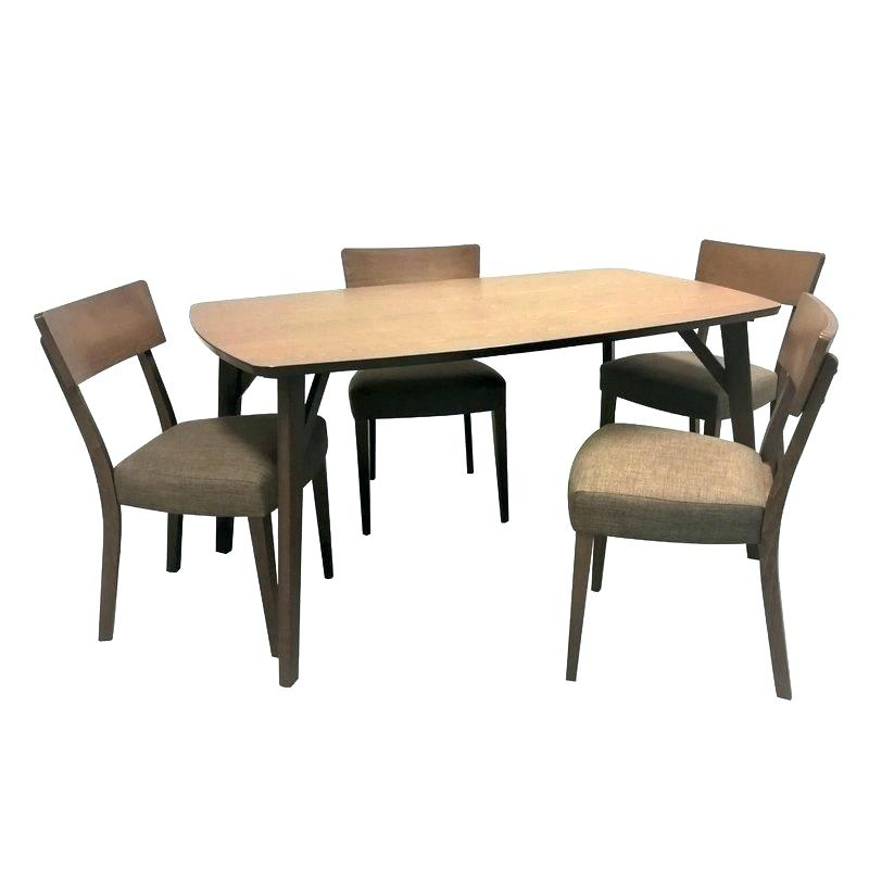 Nook Dining Set With Storage – Pepperwood with 5 Piece Breakfast Nook Dining Sets