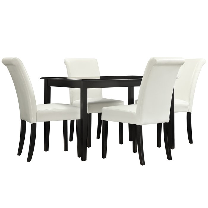 Nordstrom 5 Piece Dining Set inside Anette 3 Piece Counter Height Dining Sets