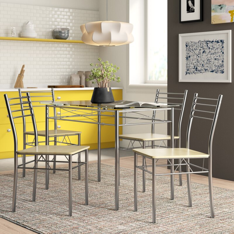 North Reading 5 Piece Dining Table Set in Tavarez 5 Piece Dining Sets