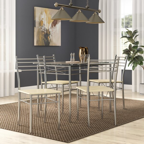 North Reading 5 Piece Dining Table Set with regard to North Reading 5 Piece Dining Table Sets