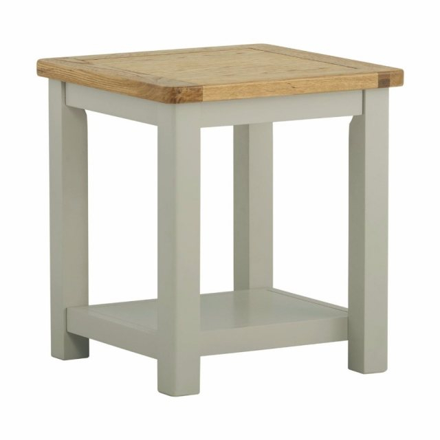 Northwood Lamp Table In Stone in Northwoods 3 Piece Dining Sets