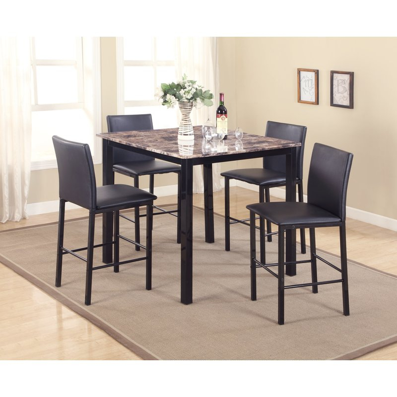 Noyes 5 Piece Counter Height Dining Set regarding Noyes 5 Piece Dining Sets
