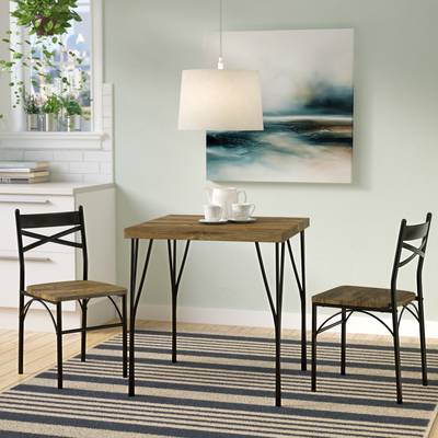Offex 3 Piece Dining Set & Reviews | Wayfair For Honoria 3 Piece Dining Sets (Image 17 of 25)