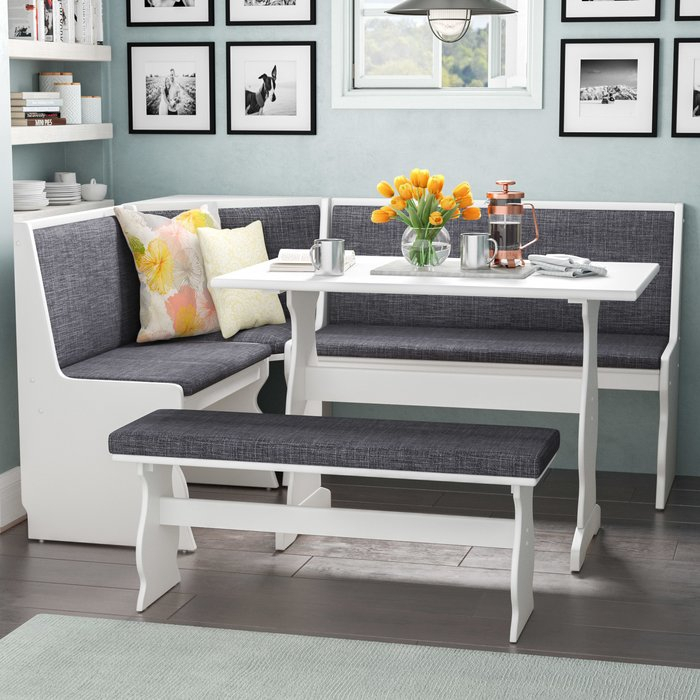 Olivia 3 Piece Breakfast Nook Dining Set with regard to 3 Piece Breakfast Dining Sets