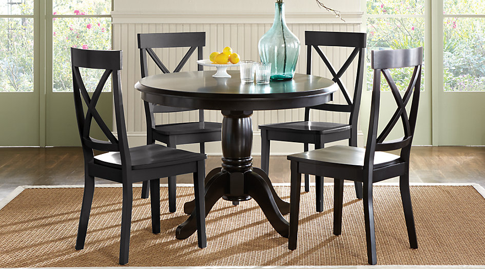 Outstanding Black Dining Room Furniture Kitchen Sets You Ll Love Pertaining To Noyes 5 Piece Dining Sets (Image 17 of 25)
