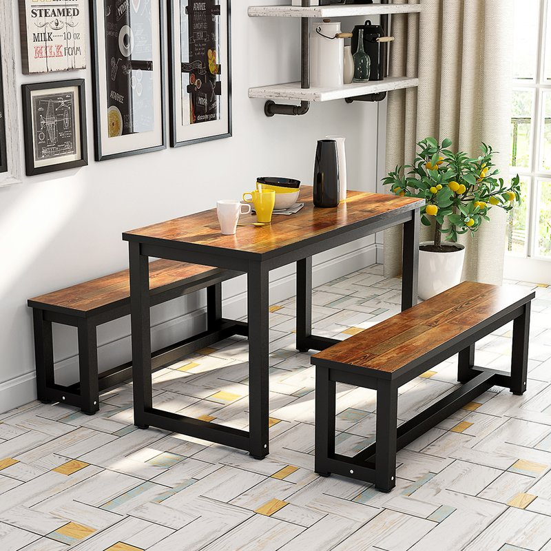 Parikh 3 Piece Dining Set pertaining to Shepparton Vintage 3 Piece Dining Sets