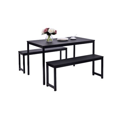 Partin 3 Piece Dining Set In Partin 3 Piece Dining Sets (Image 16 of 25)