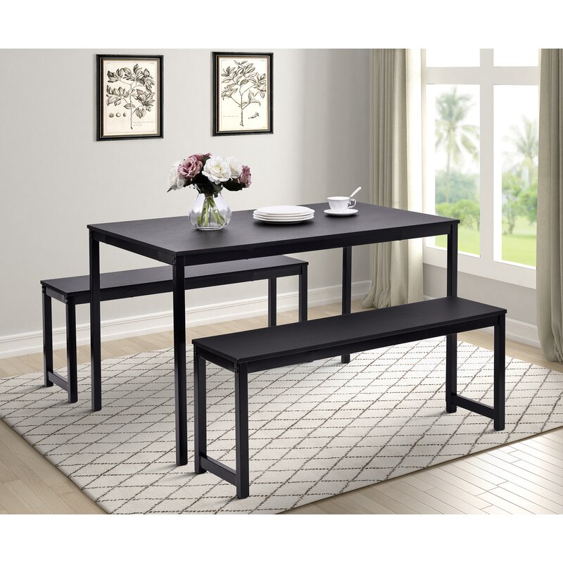 Partin 3 Piece Dining Set In Partin 3 Piece Dining Sets (Image 15 of 25)