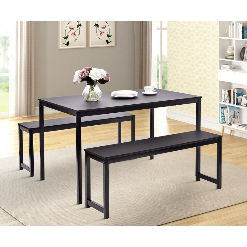 Partin 3 Piece Dining Set With Partin 3 Piece Dining Sets (Image 18 of 25)