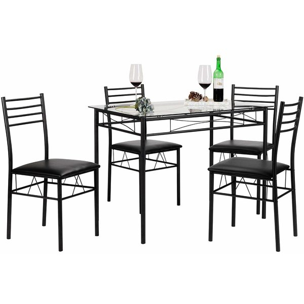 Picnic Style Dining Table Set | Wayfair Throughout Linette 5 Piece Dining Table Sets (Image 21 of 25)