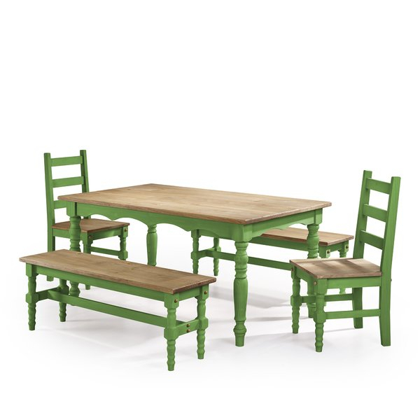 Pinard 5 Piece Solid Wood Dining Setgracie Oaks Coupon | Kitchen In Wallflower 3 Piece Dining Sets (Image 16 of 25)