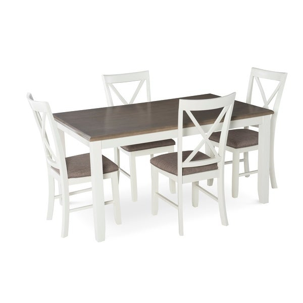 Powell Home Fashions 15D8153 Jane Five Piece Dining Set – White Throughout Calla 5 Piece Dining Sets (Image 22 of 25)