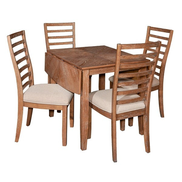 Powell Home Fashions D1052D16Pc5 Liam Five Piece Wood Framed Dining Set –  Red Oak Veneer Intended For Calla 5 Piece Dining Sets (Image 23 of 25)