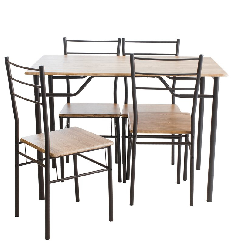 Pratiksha Sonoma 5 Piece Dining Set With Pratiksha Sonoma 5 Piece Dining Sets (View 1 of 25)