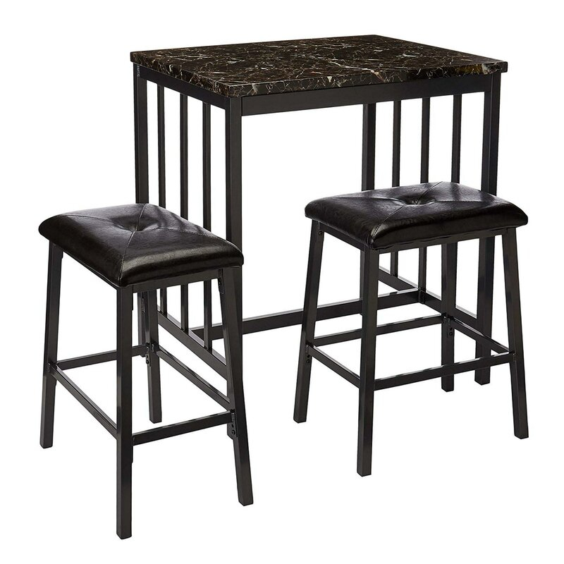 Featured Image of Presson 3 Piece Counter Height Dining Sets