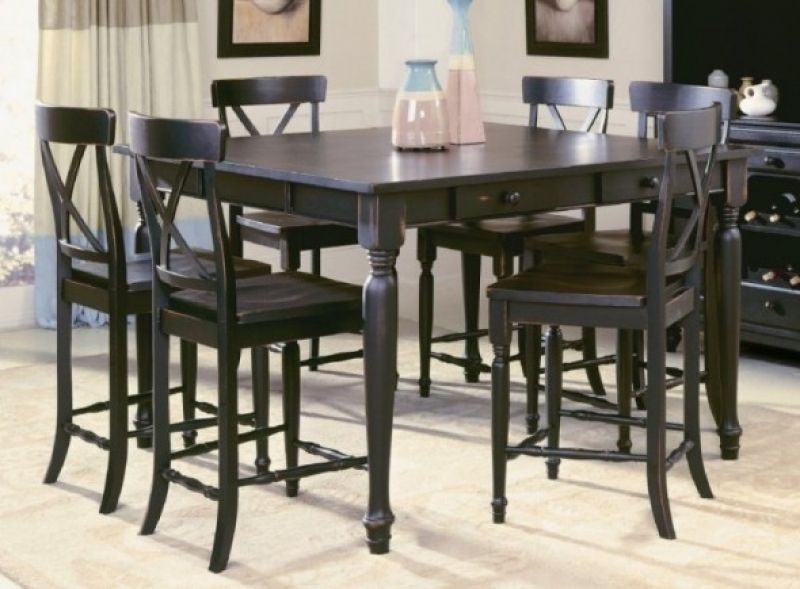 Pub Style Table And Chairs | Home Decor With Regard To Anette 3 Piece Counter Height Dining Sets (View 16 of 25)