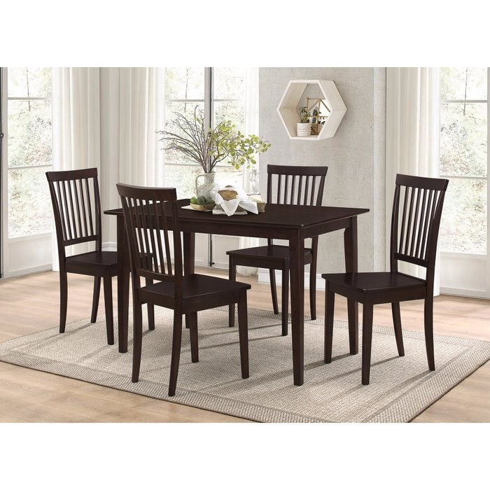 Puentes Wooden 5 Piece Dining Set Pertaining To Pattonsburg 5 Piece Dining Sets (Image 18 of 25)