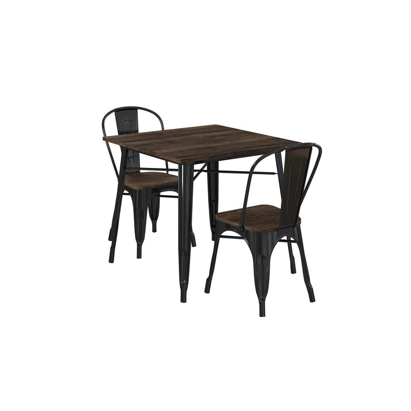 Pullman 3 Piece Dining Set Regarding Rossiter 3 Piece Dining Sets (Image 13 of 25)