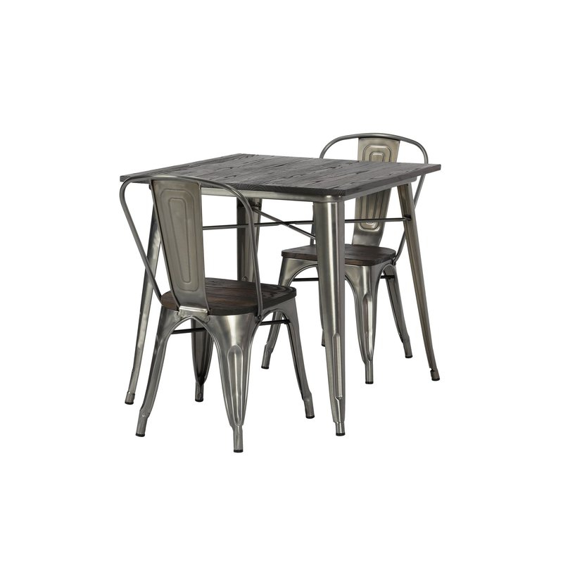 Pullman 3 Piece Dining Set Throughout Rossiter 3 Piece Dining Sets (Image 15 of 25)