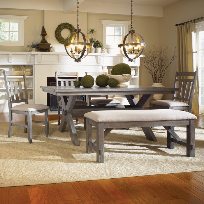 Quentin 6 Piece Dining Set Throughout Osterman 6 Piece Extendable Dining Sets (Set Of 6) (Image 20 of 25)