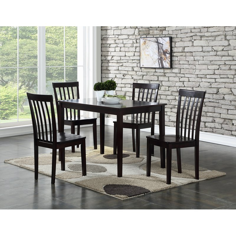 Ralls 5 Piece Dining Set In Winsted 4 Piece Counter Height Dining Sets (Image 20 of 25)