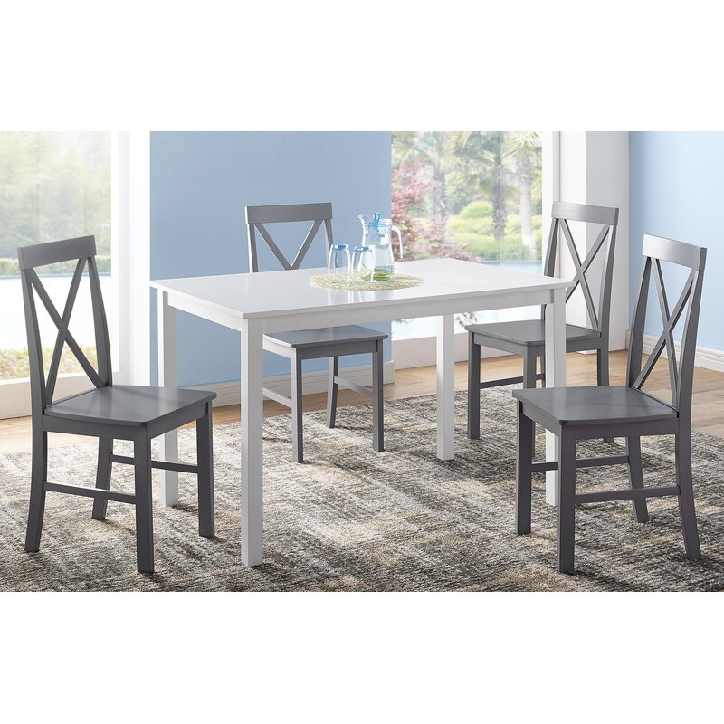 Featured Photo of Rarick 5 Piece Solid Wood Dining Sets (Set Of 5)